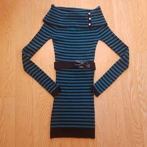 Candies sweater striped dress